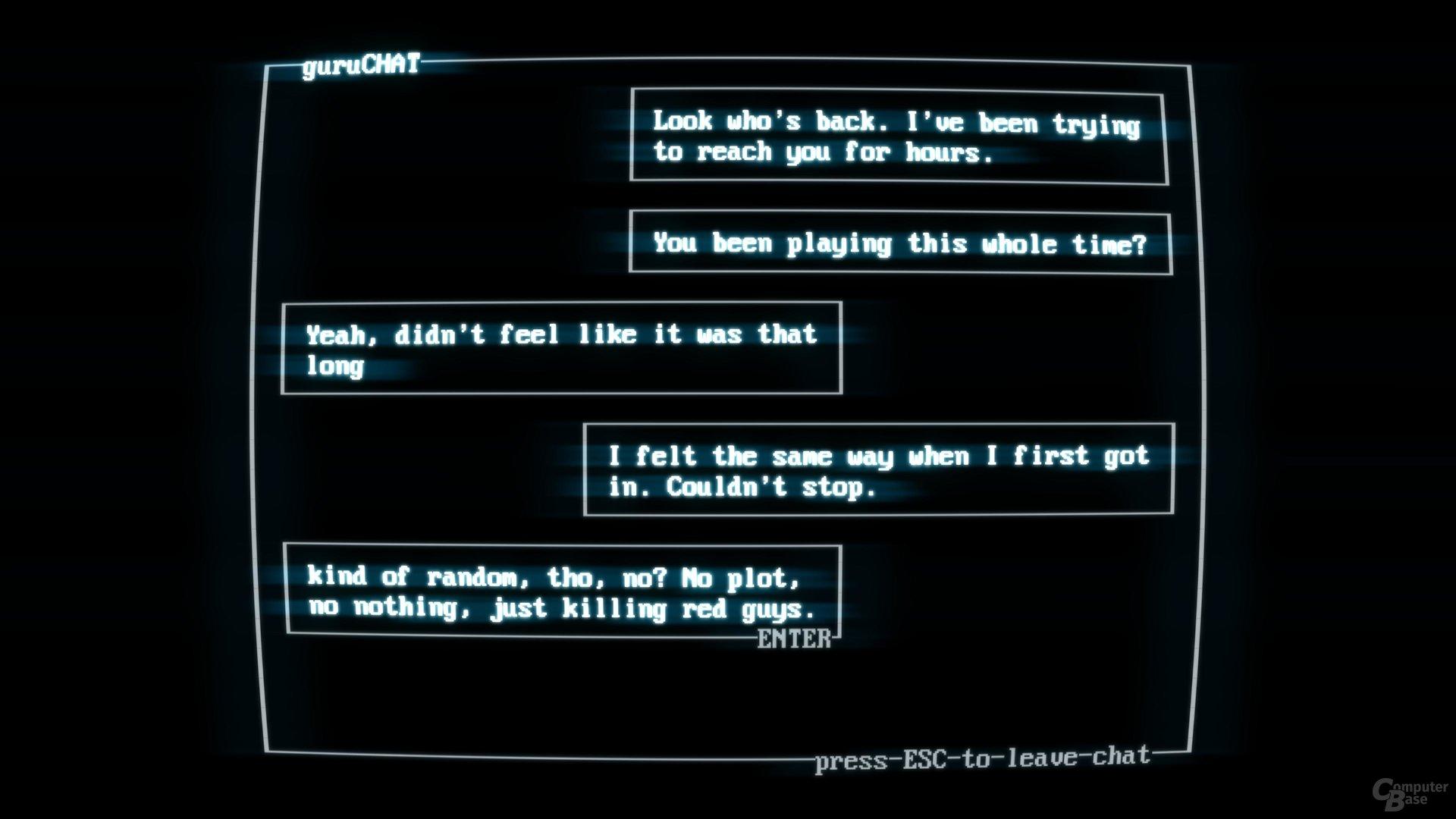 Statt Zwischensequenzen gibt es Chatverläufe