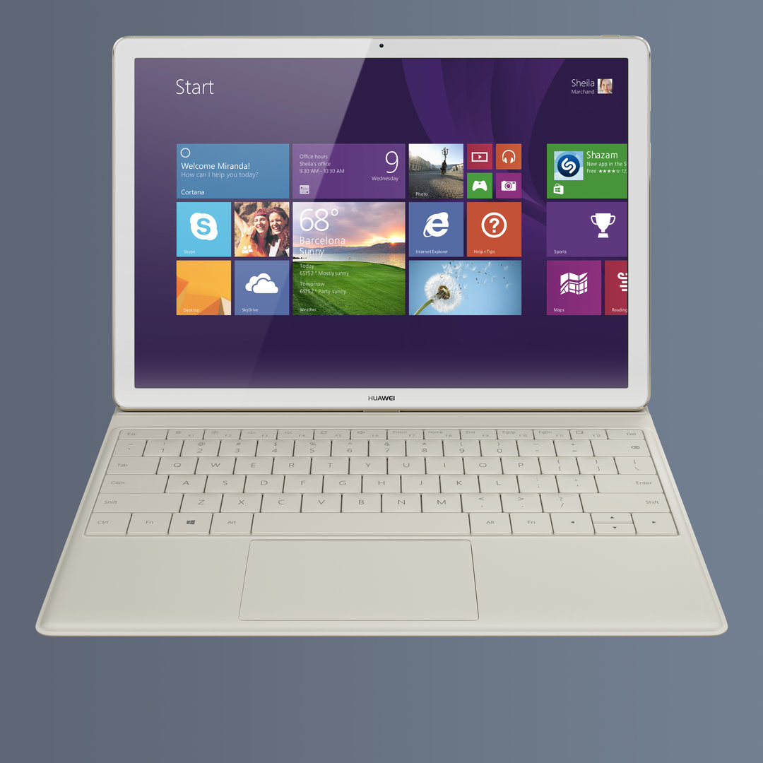 Huawei MateBook mit Tastatur