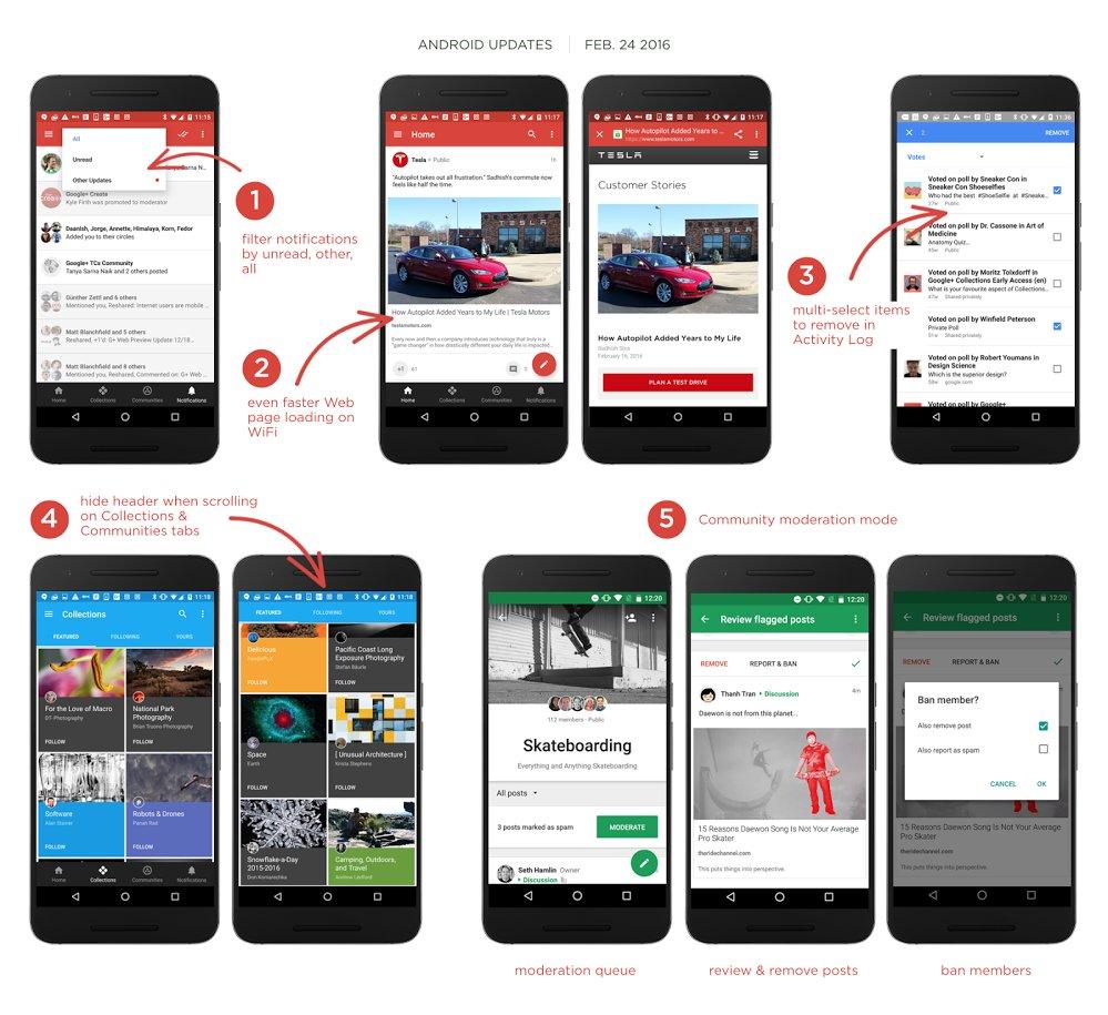 Google+ für Android mit zahlreichen neuen Funktionen