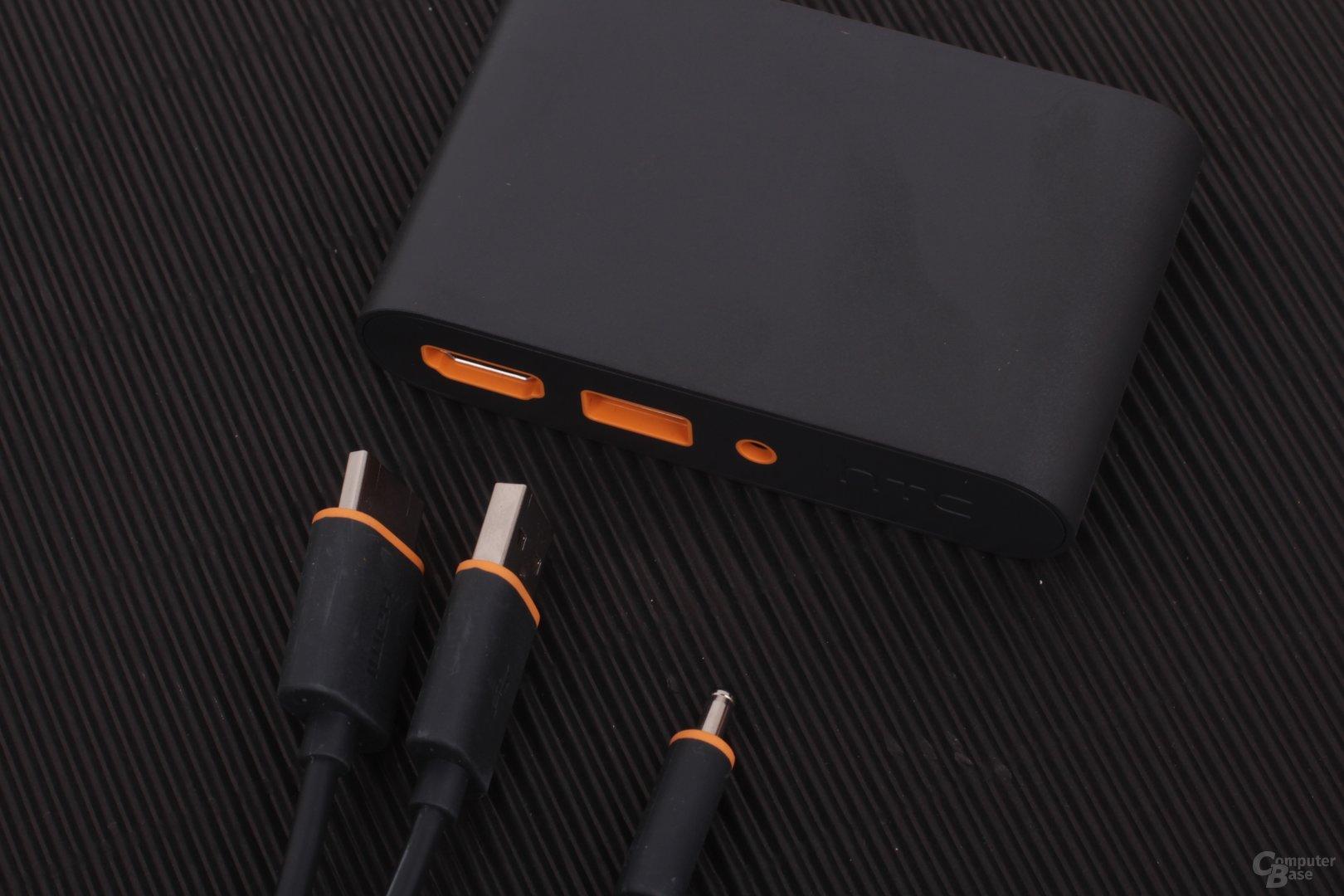 """Die """"Link Box"""" verbindet PC und Vive und braucht ebenfalls Strom"""
