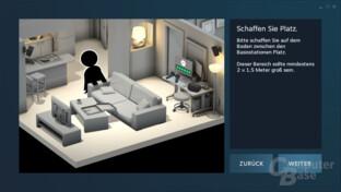 """2,0 x 1,5 Meter sind das Mindesmaß für """"Room Scale VR"""""""