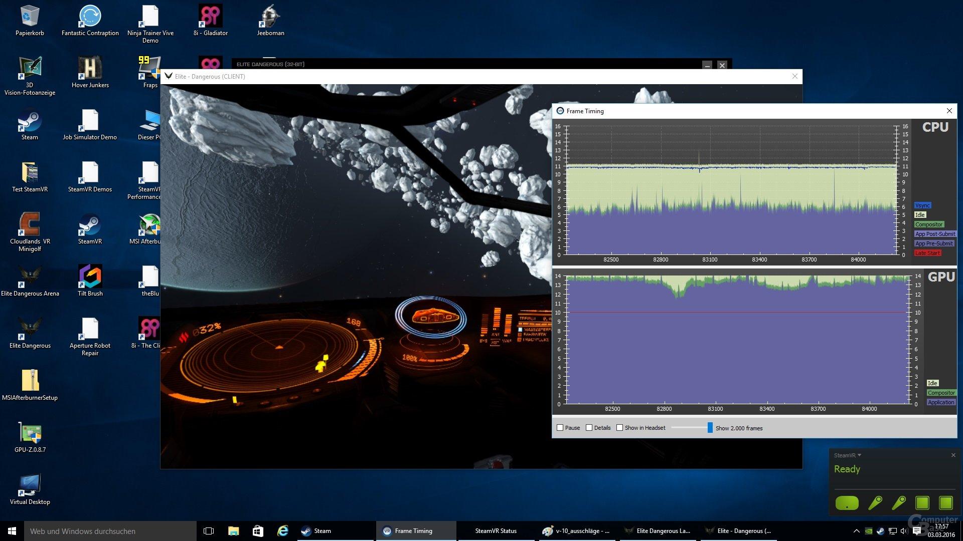 Elite: Dangerous in Ultra auf einer GeForce GTX 970