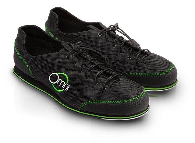 """Omni Schuhe mit spezieller """"friktionsarmer""""-Sohle"""