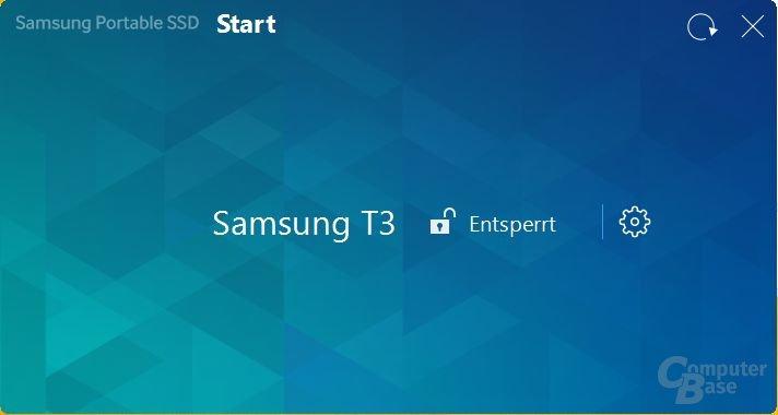 Die Software zur Samsung Portable SSD T3