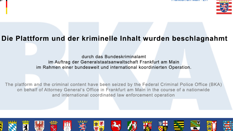 Europaweite Großrazzia: BKA schaltet mehrere Darknet-Server ab