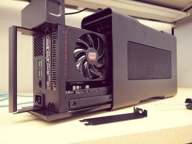Radeon-Grafikkarte als eGPU im Razer Core