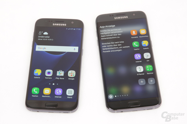 Galaxy S7 neben Galaxy S7 edge