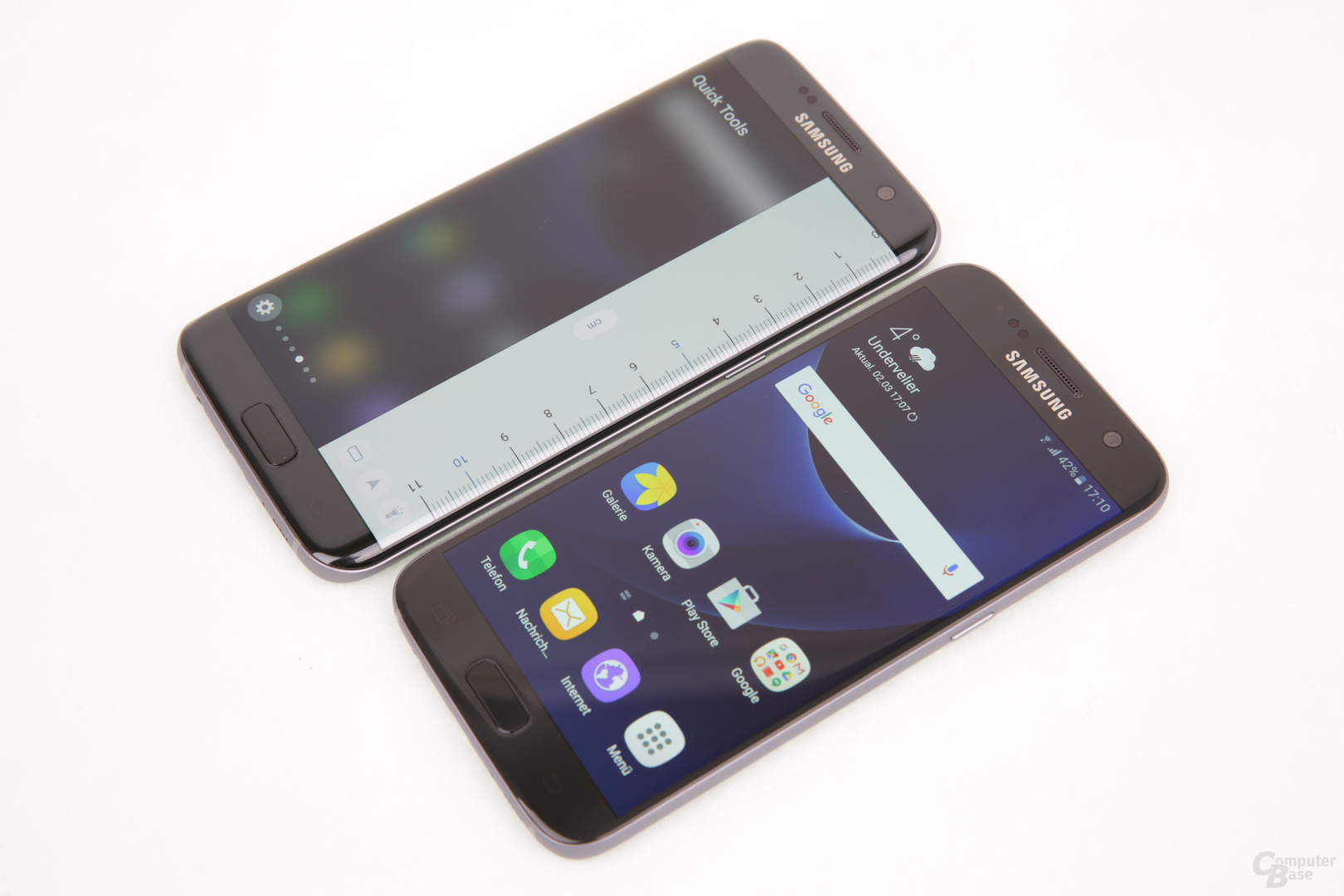 Galaxy S7 edge neben Galaxy S7