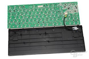 Rückseite des PCBs und Unterschale