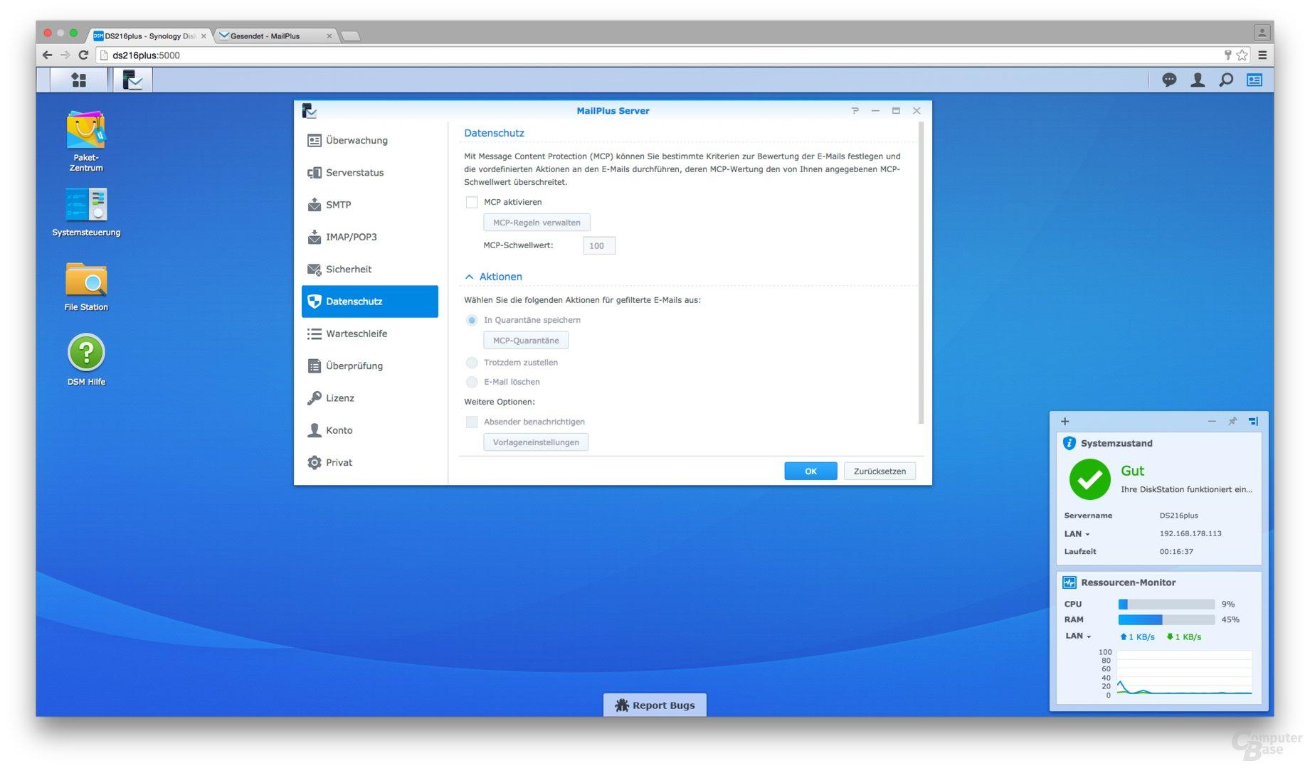 Synology DSM 6.0: MailPlus Server