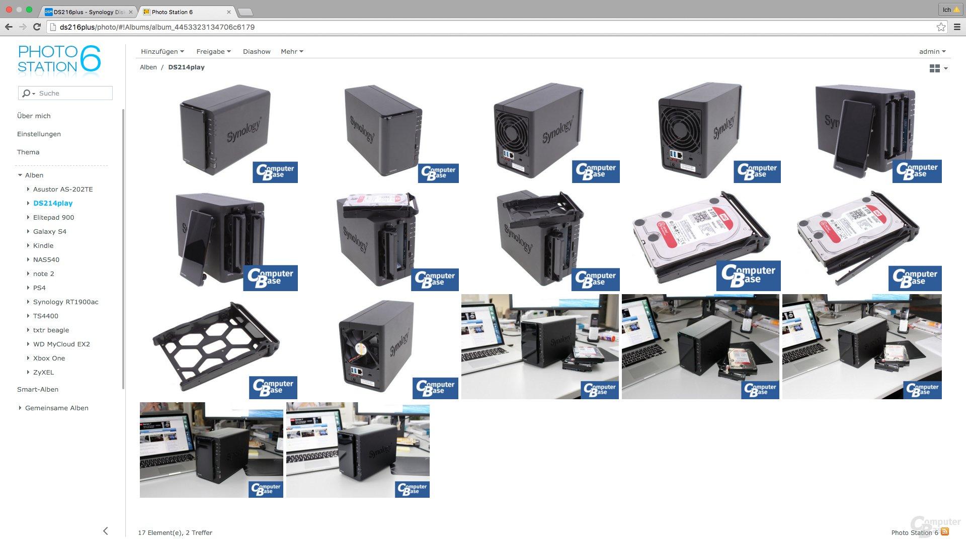 Synology DSM 6.0: Photo Station 6