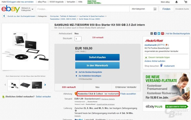 Click & Collect bei eBay