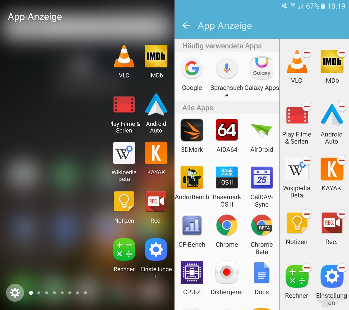 App-Anzeige