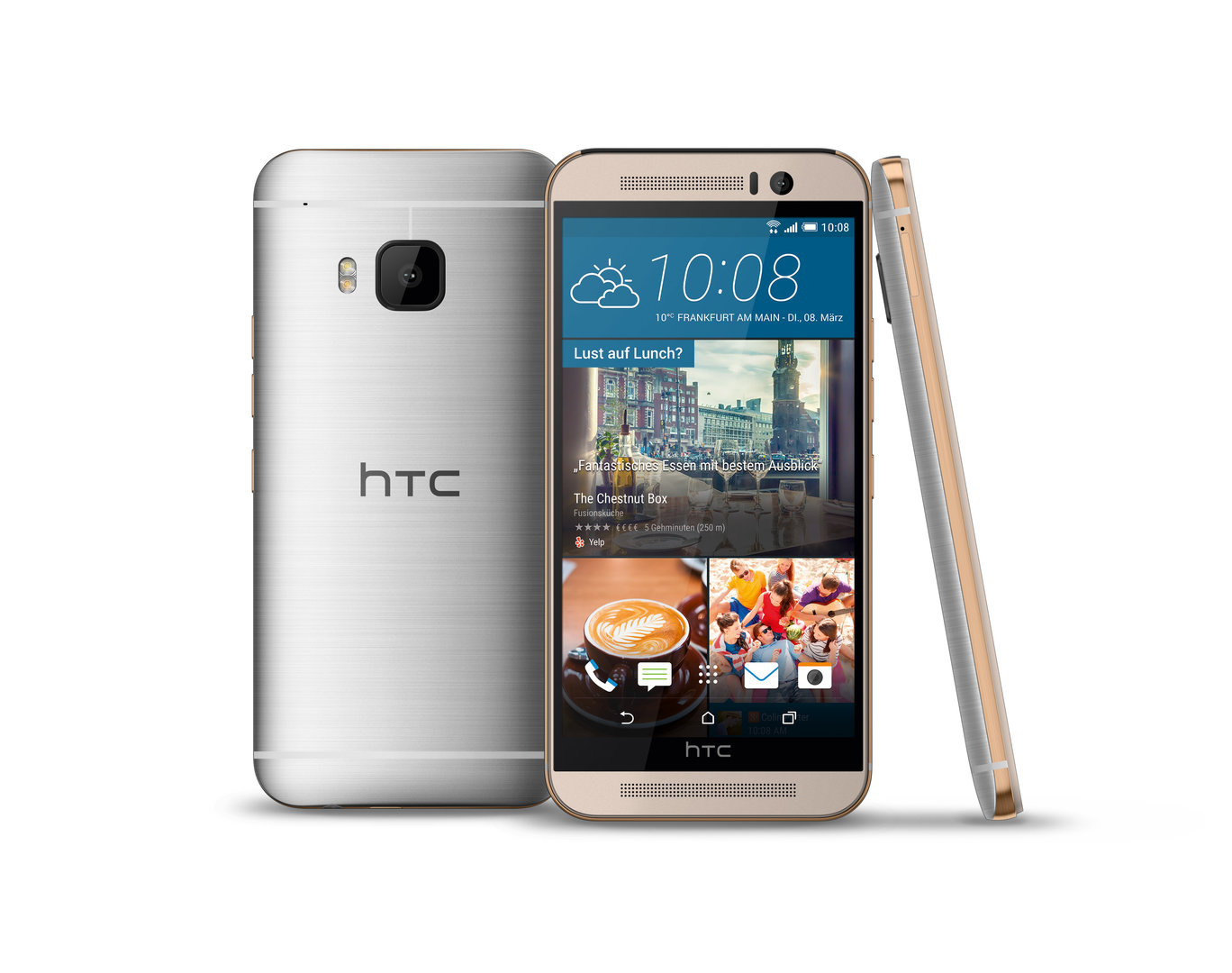 HTC One M9 Prime Camera Edition – Gold on Silver