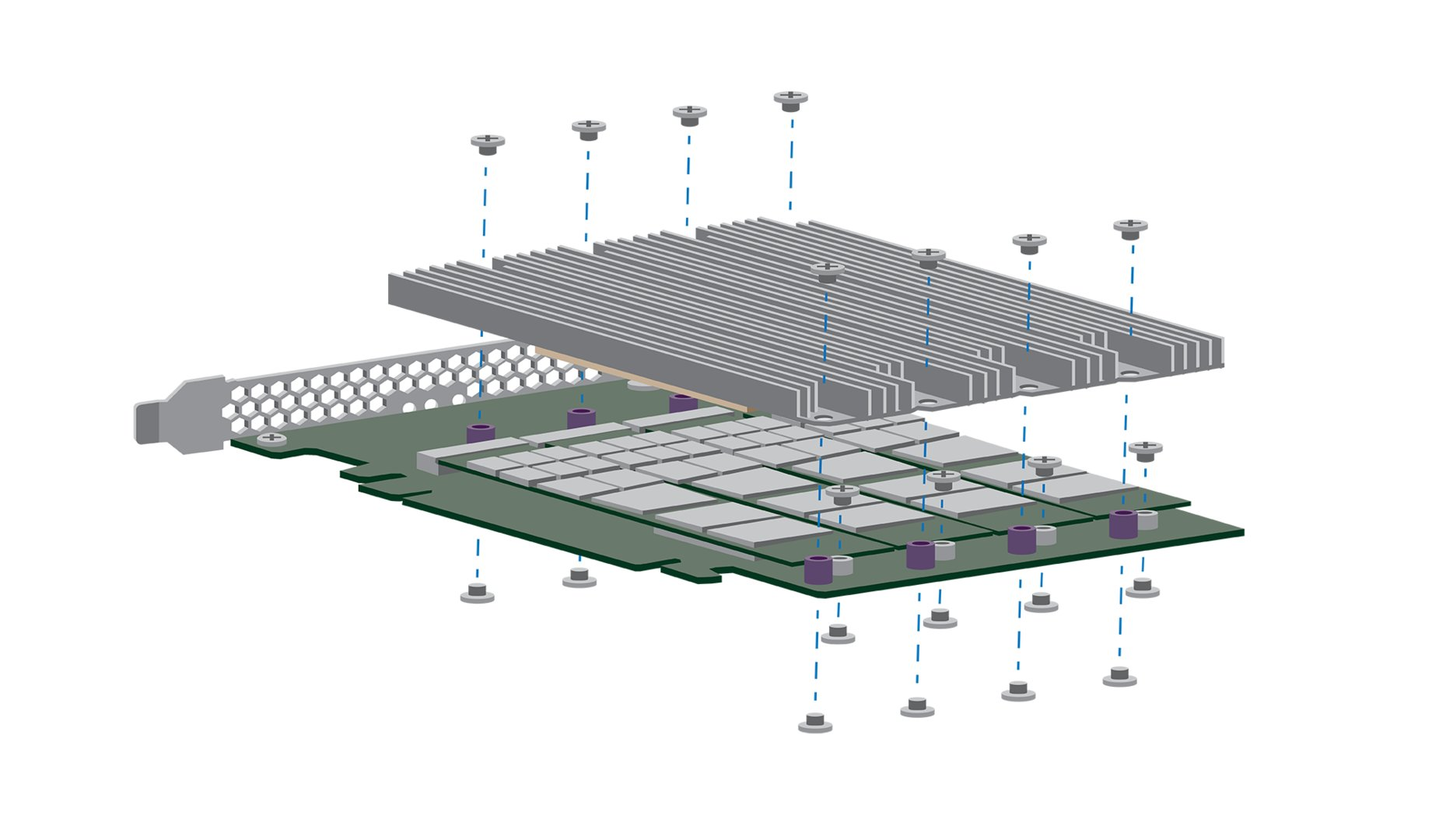 Rendering des Modells mit 10 GB/s (PCIe x16)