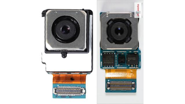 Kameramodul mit Samsung-Sensor (links) und Sony-Sensor (rechts)