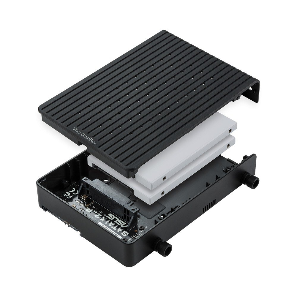 Asus Vivo DualBay – Festplattenkäfig für zwei 2,5-Zoll-Laufwerke
