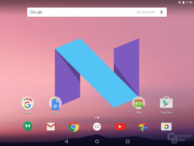 Android N – Startbildschirm