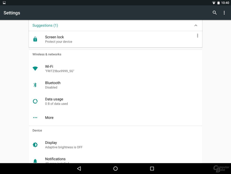 Android N – Neue Einstellungen