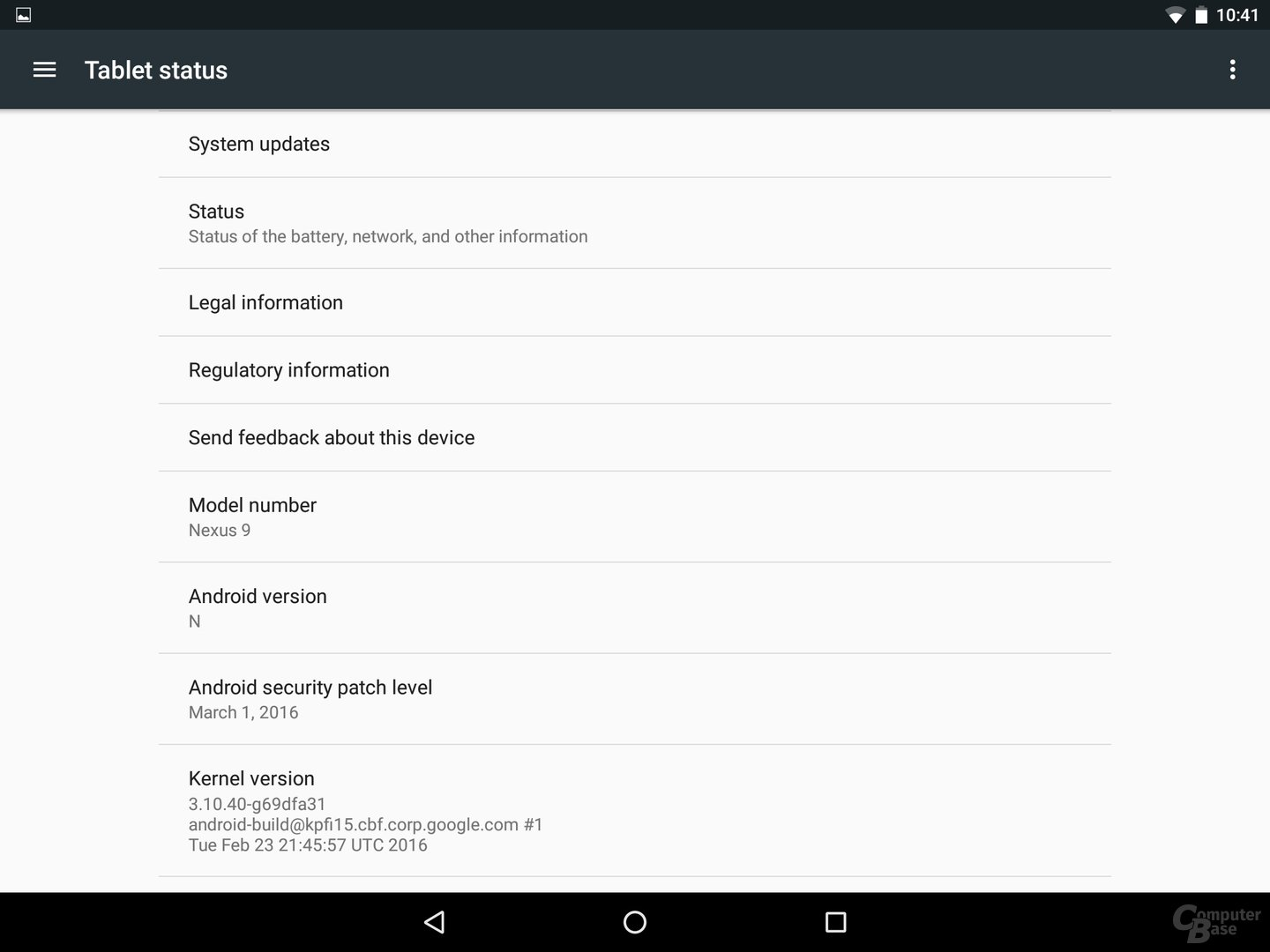 Android N – Systemversion