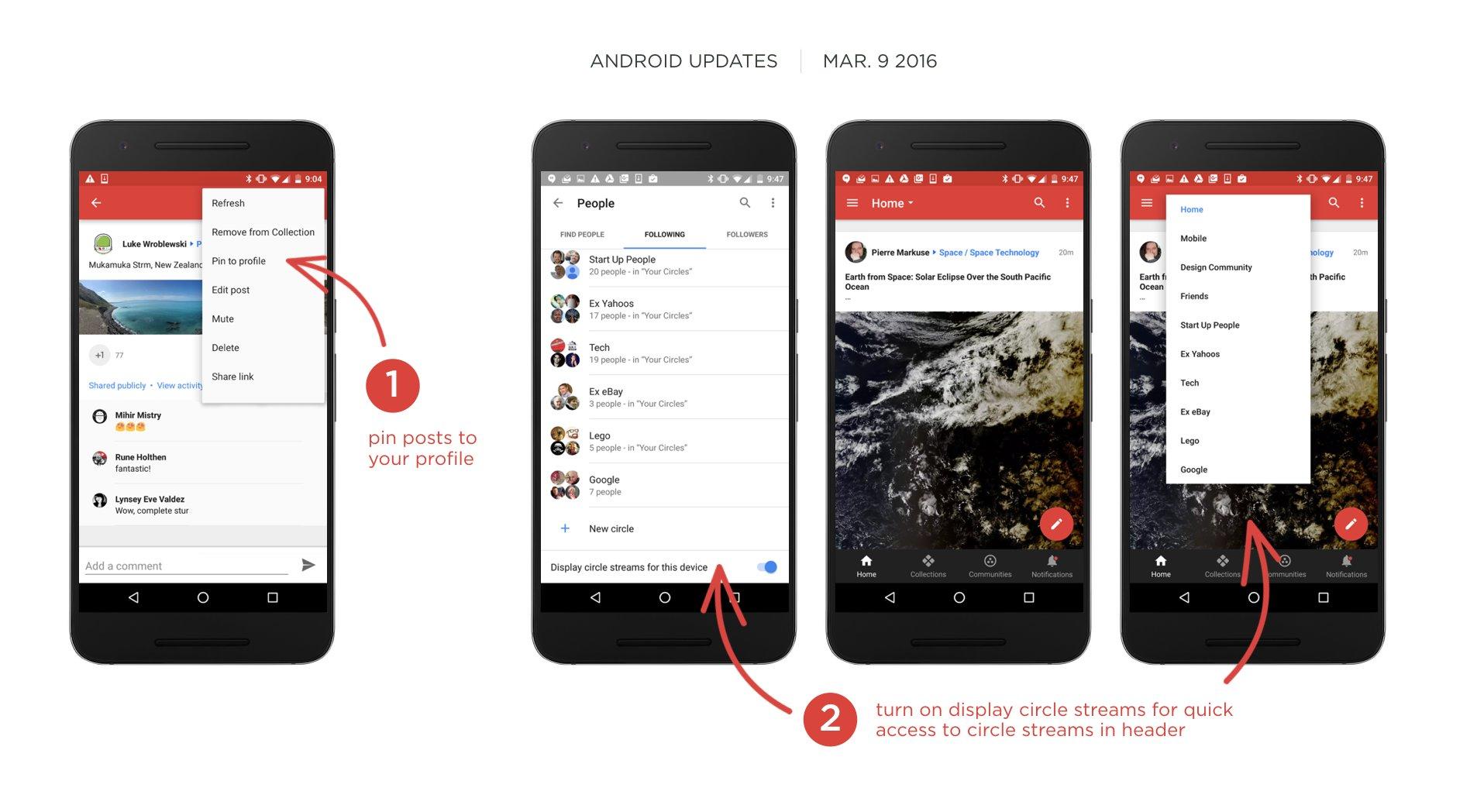 Anpinnfunktion bei Google+