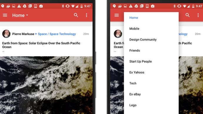 Google+: Update für Android bringt Anpinnfunktion zurück