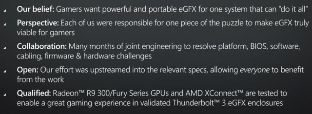 eGPU via Thunderbolt 3 ist ein offenes Konzept für alle