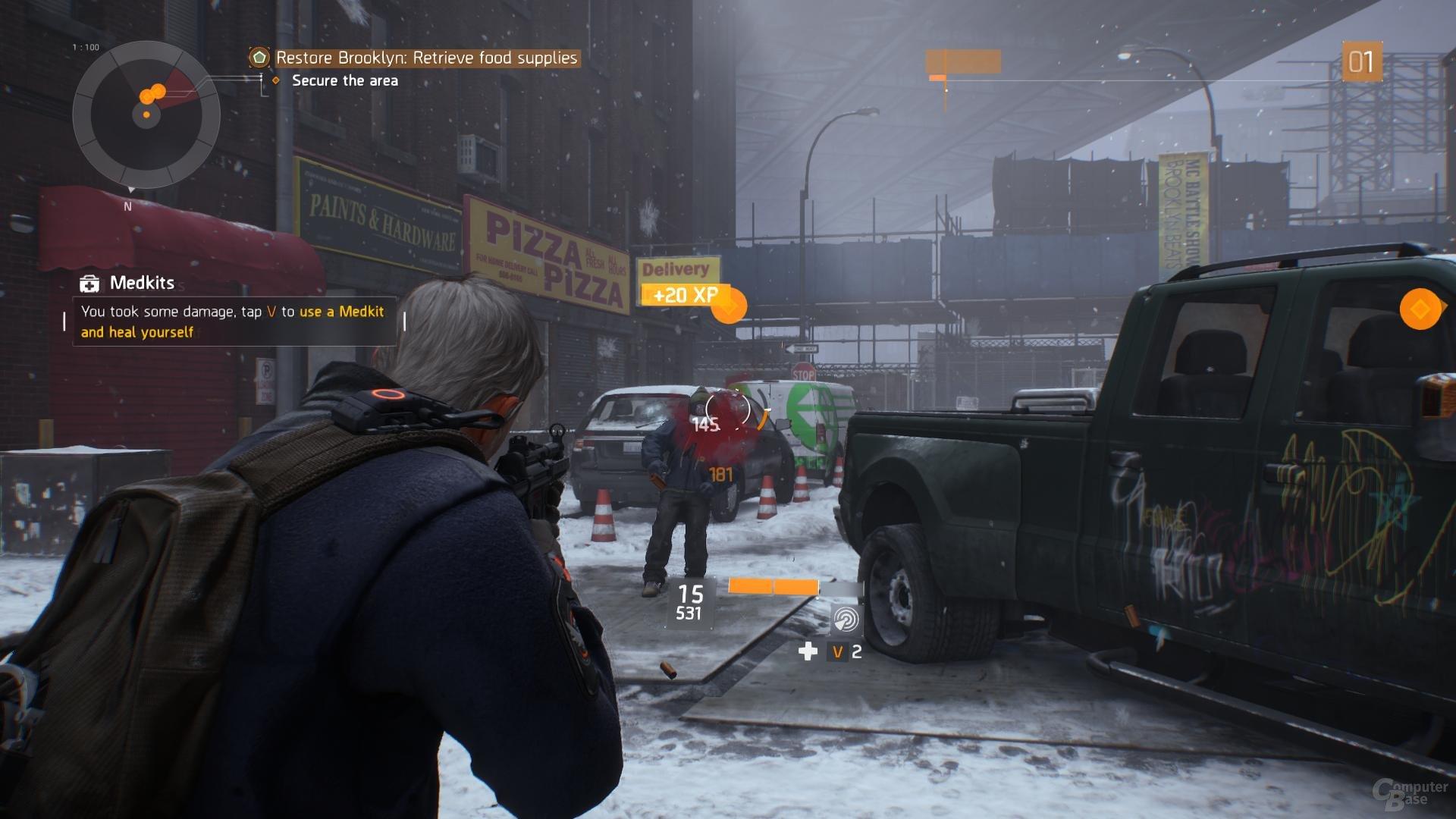 RPG-Typisch wird der Waffenschaden visualisiert