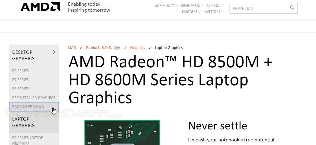 AMD Radeon Pro Duo als Link auf AMD-Website