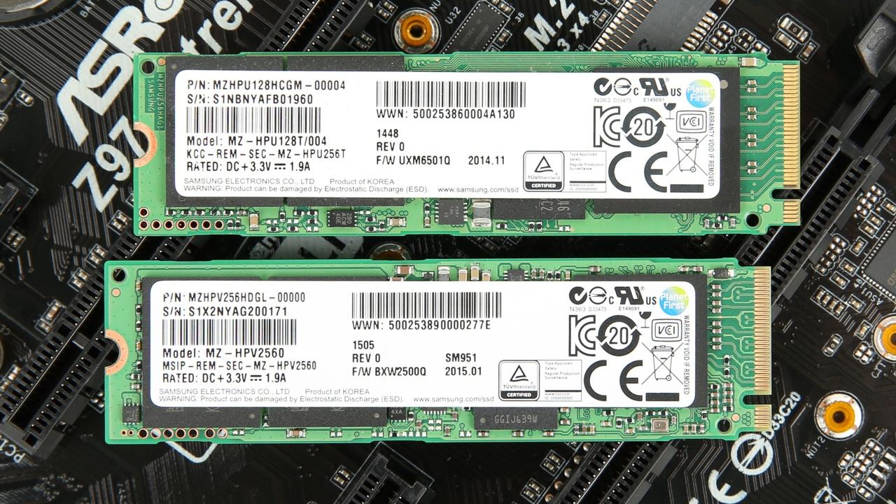 Samsung SM961: M.2-SSD mit 3,2 GB/s, bis zu 1 TB und Polaris-Controller