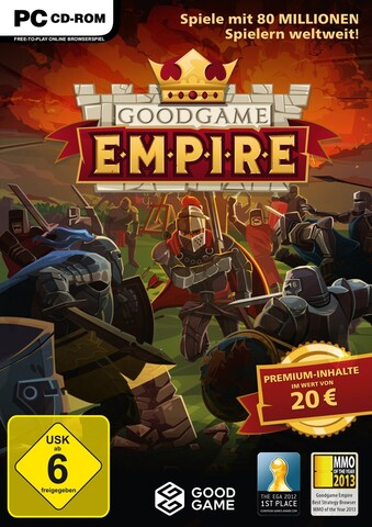 Goodgame Empire – das Cover der Ladenversion