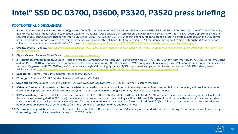 Fußnoten zur Präsentation der neuen DC-SSDs
