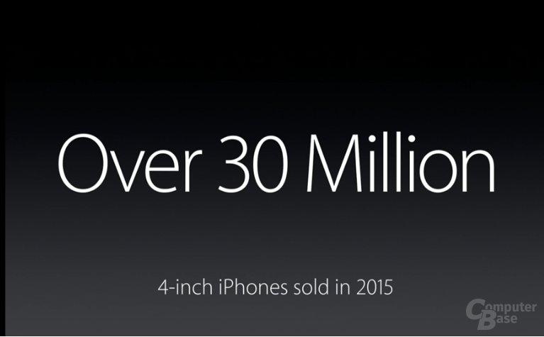 30 Millionen verkaufte 4-Zoll-iPhones im Jahr 2015