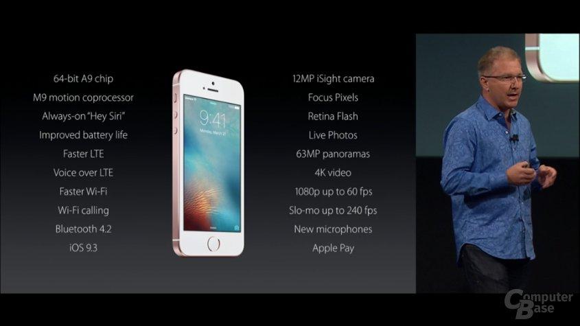 Die Eckdaten des neuen iPhone SE