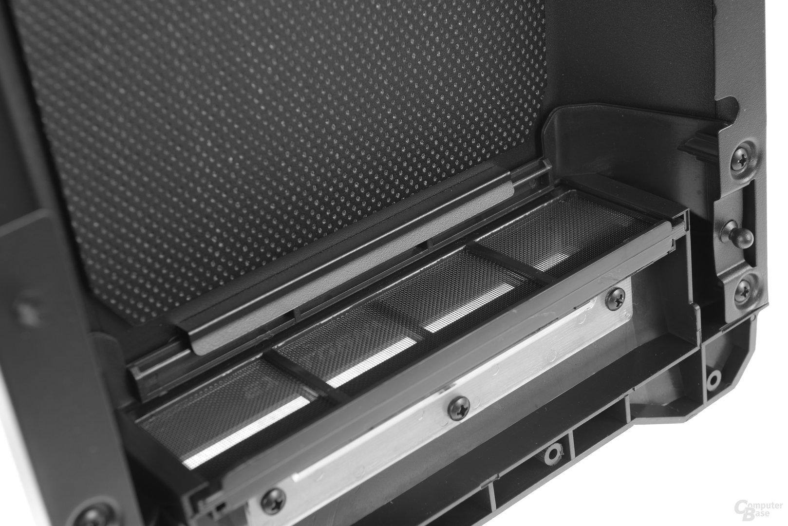 Phanteks Eclipse P400S – Schalldämmung und Staubfilter in der Front