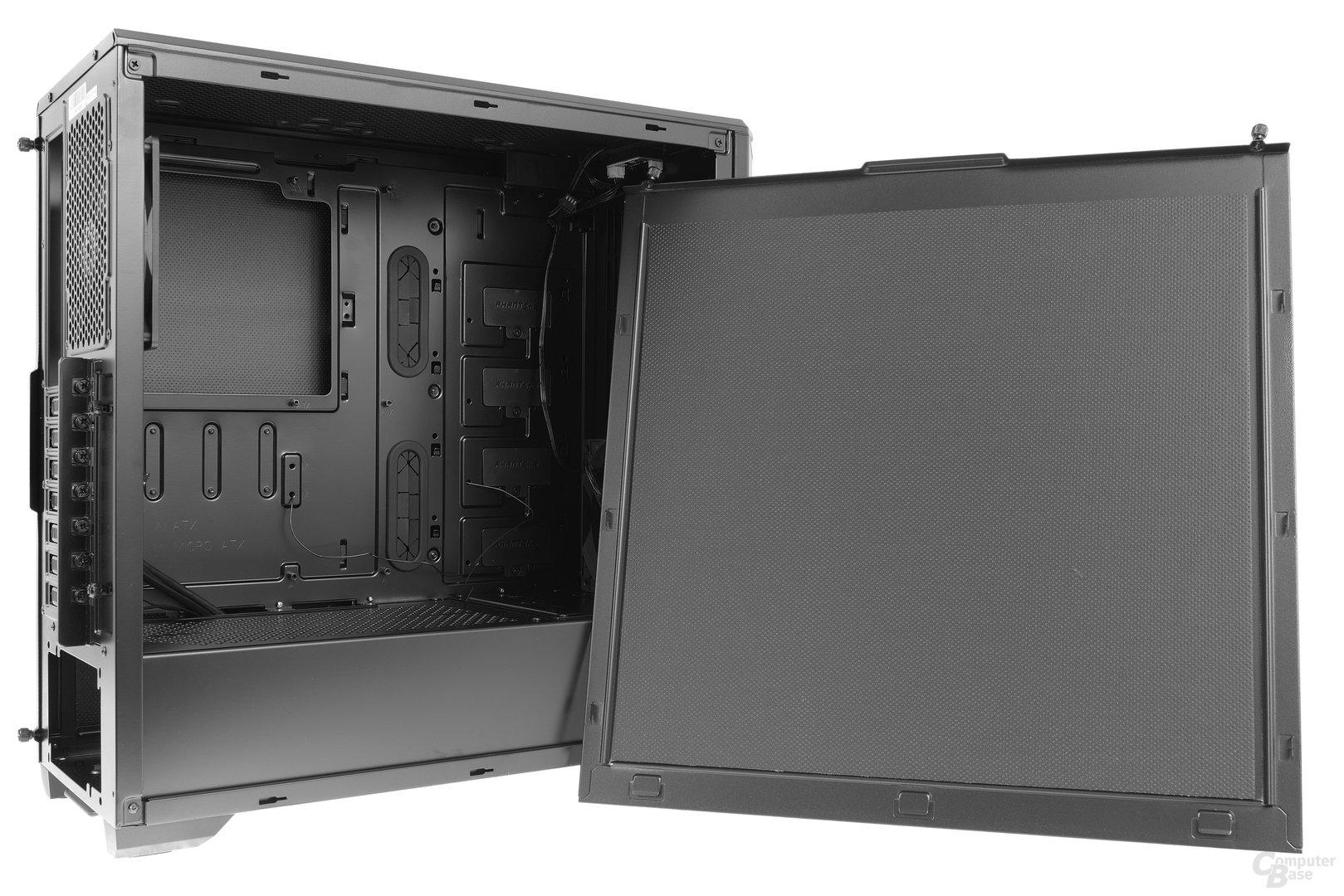 Phanteks Eclipse P400S – Auch die Seitenteile sind gedämmt