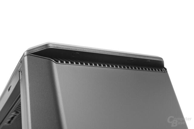 Phanteks Eclipse P400S – Knöpfe unter dem Deckel