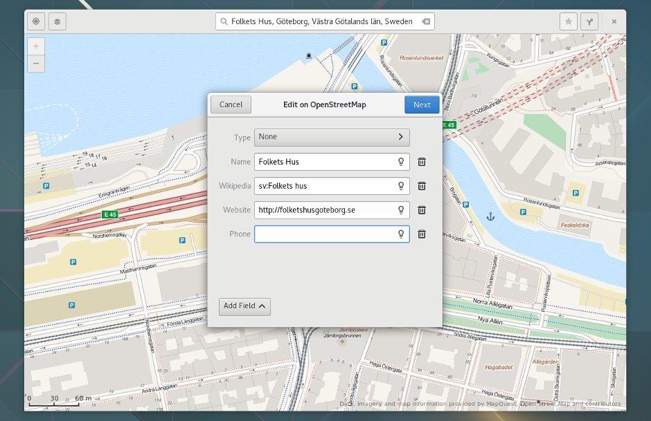 Maps erlaubt Anlegen und Editieren von OSM-Einträgen