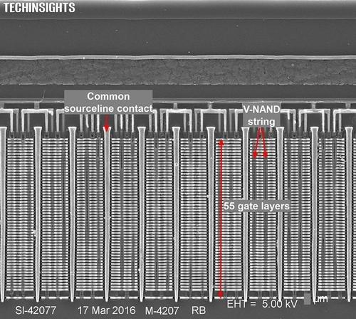 Samsungs V-NAND (3D-NAND) Gen3 mit 48 Lagen