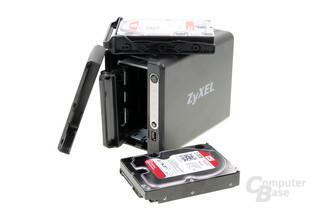 ZyXEL NAS326 – maximal 2 Laufwerke passen ins Gehäuse