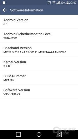 Update auf Android 6 für das LG G3