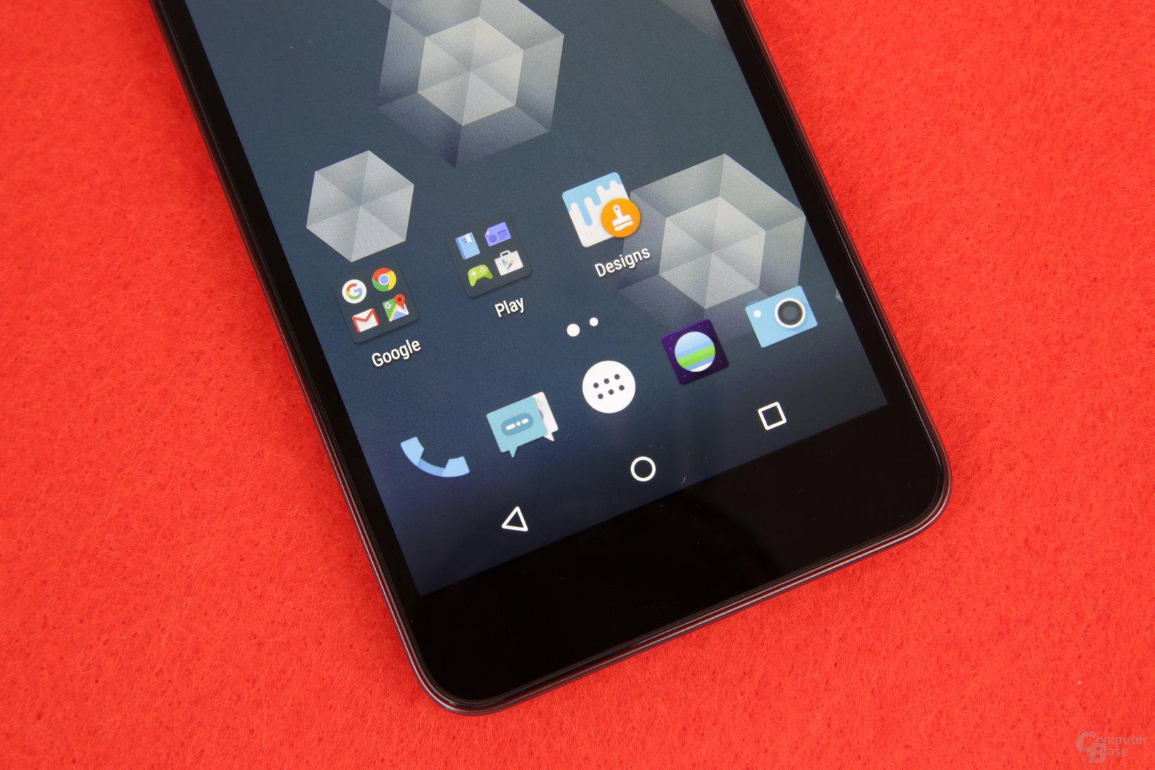 Alle Tasten für Android sind in Software gelöst
