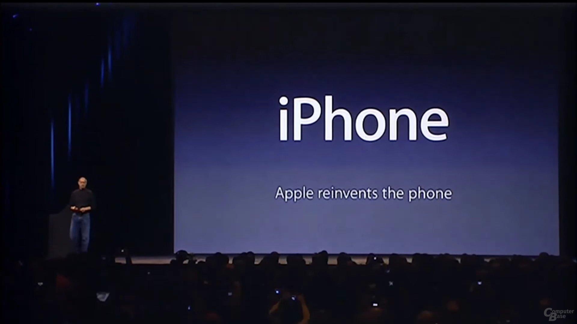 Vorstellung des ersten iPhone 2007