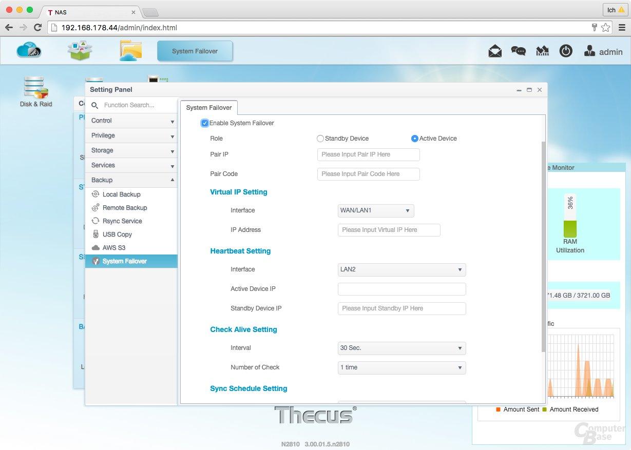 ThecusOS 7.0 – System Failover