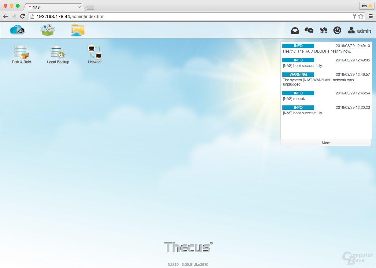 ThecusOS 7.0 – System Log