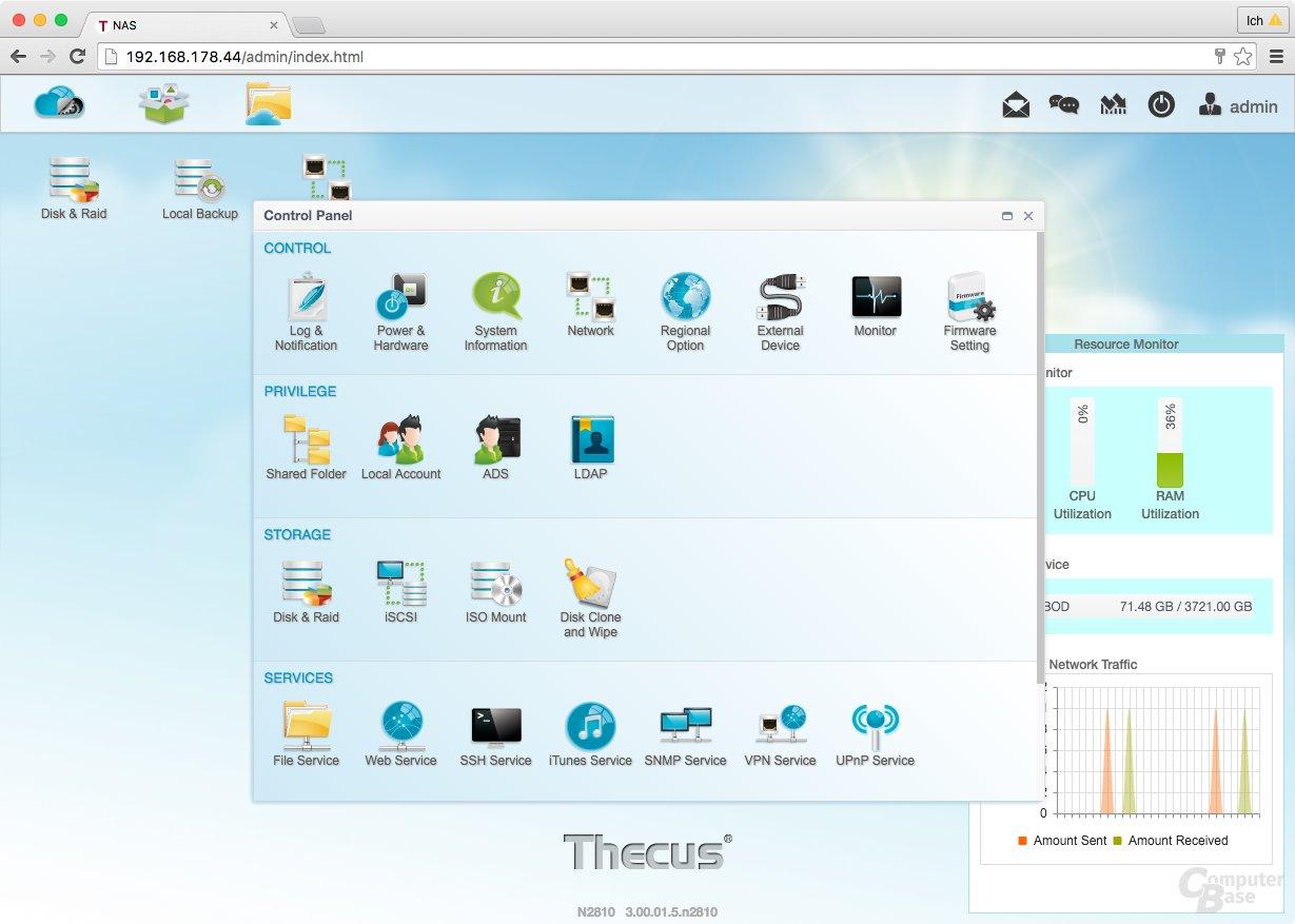 ThecusOS 7.0 – Control Panel