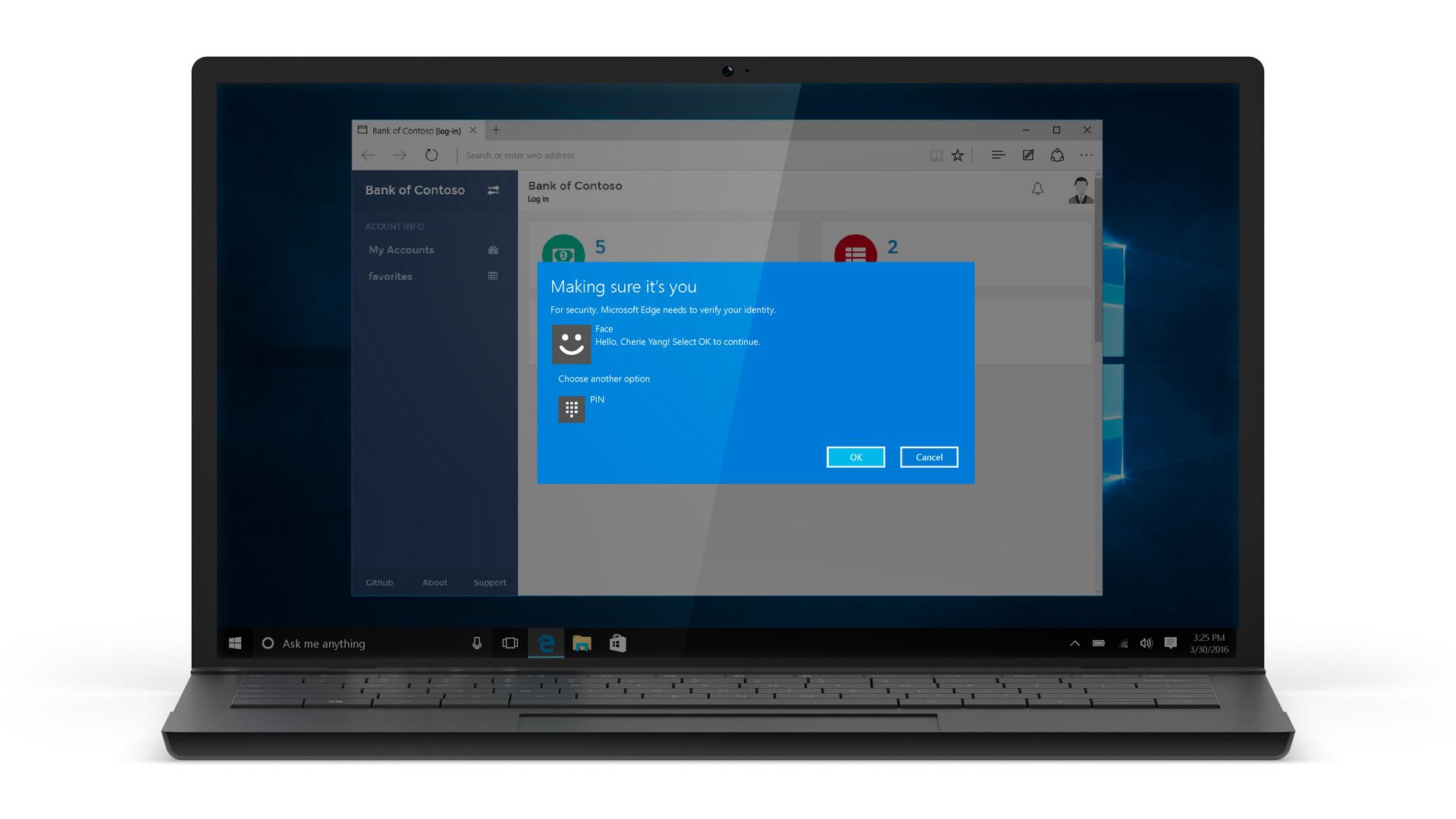 Anniversary Update: Windows Hello für Apps und Websites in Edge