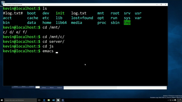 Microsoft: Ubuntus Unix-Shell Bash läuft nativ in Windows 10