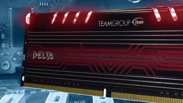 Team Group Delta: Auch DDR4-3.000 gibt es jetzt beleuchtet