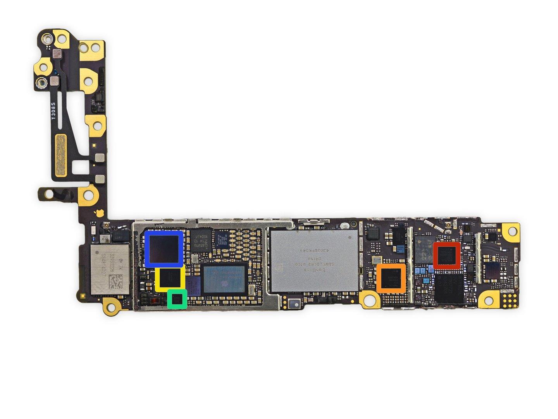 Die Platine des iPhone 6 (Front) (Bild 5/8) - ComputerBase